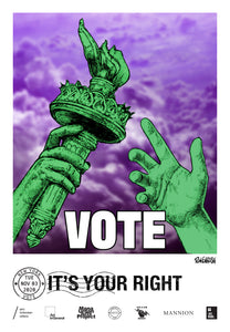 New York Get Out The Vote Poster by Ron English