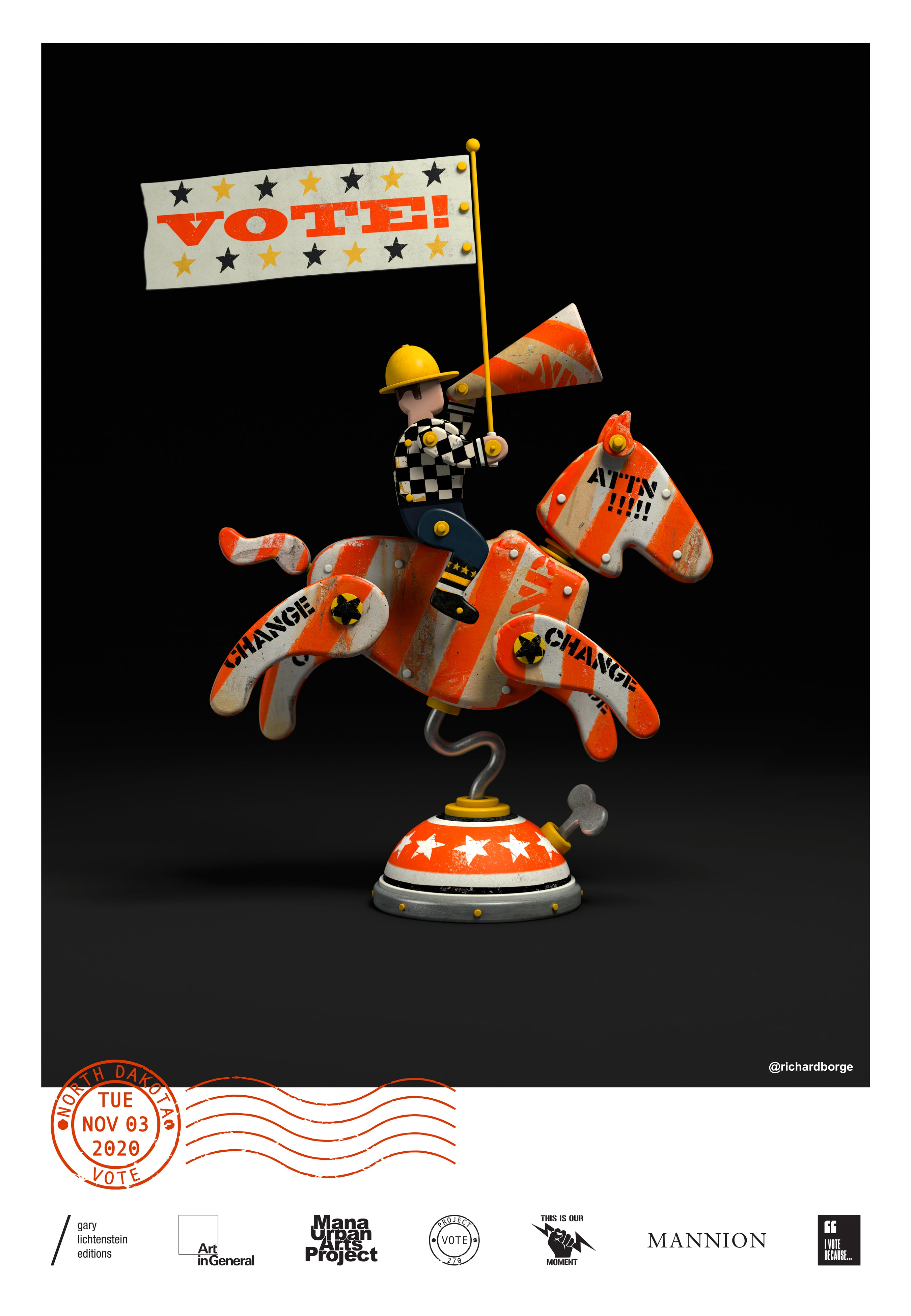 North Dakota Get Out The Vote Poster by Richard Borge