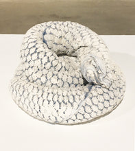 Load image into Gallery viewer, Towel Snake (white and blue), 2016,