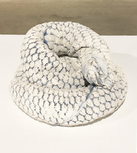 Towel Snake (white and blue), 2016,