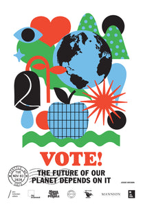 Seattle, Washington Get Out The Vote Poster by Jesse Brown