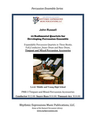 PMB-3 12 Rudimental Quarters for Developing Percussion Ensemble Timpani, Mixed Accessories (Digital Copy)