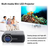 Full HD LED Projector. Supports HDMI, VGA, And USB Ports.