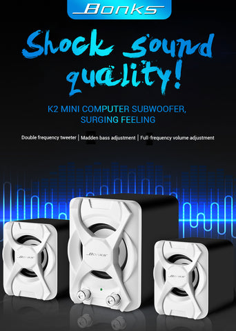 High Quality & Portable Audio Speakers + Subwoofer