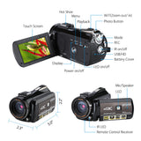 "24MP, 4K Digital Camera With Infrared Night Vision, 3"" Touch Screen"