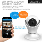 Smart Home Security Camera, 360 Rotation, Wireless WiFi Remote