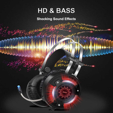 Ultra HQ Gaming Headphones With Microphone&LED