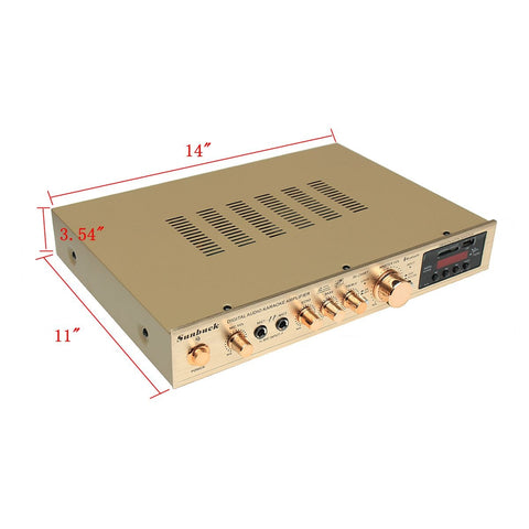 2000W, 5 Channel Audio Amplifier, With Remote Control