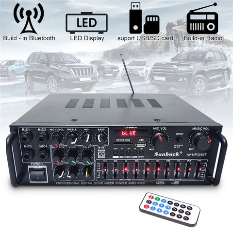 800W Bluetooth&USB Home Theatre Stereo Amplifier With Equalizer