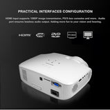 LED Projector For Full HD 4K*2K Video, With VGA, HDMI, USB, AV, SD
