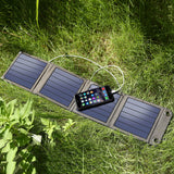14W Portable Solar Panels With USB2.0 Dock