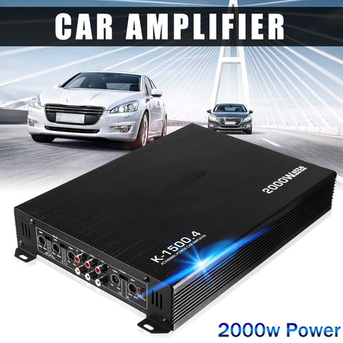 4 Channel, 2000W Car Audio Amplifier, DC 12V
