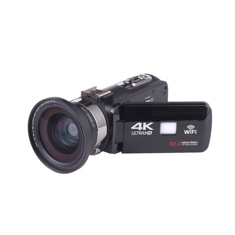 4K Night Vision Video Camera, 3.0 Inch Touch Screen