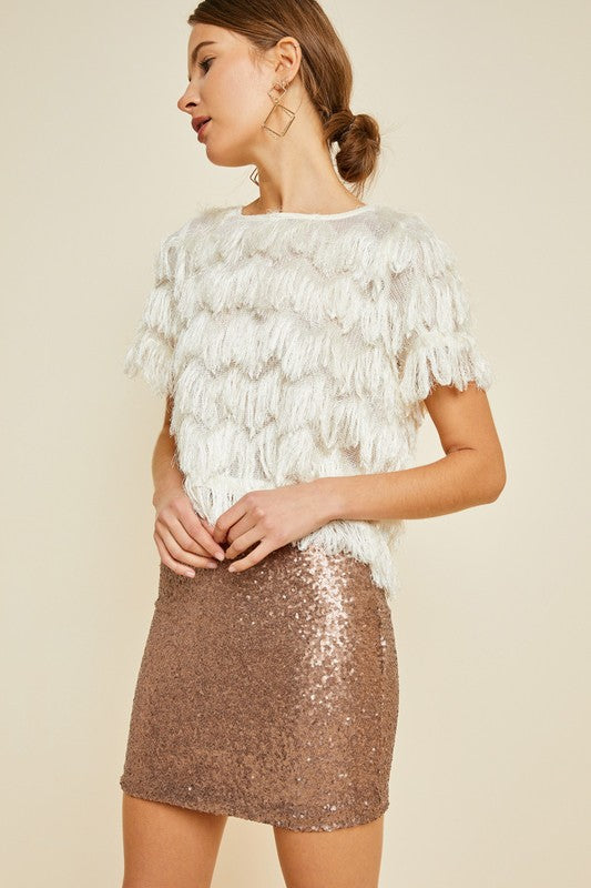 Winston Sequin Skirt