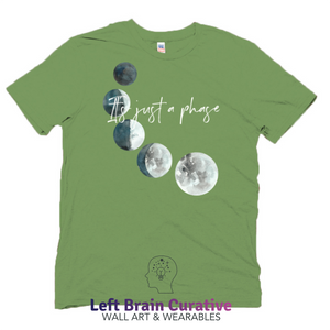 "Unisex Organic ""It's Just a Phase"" Short Sleeve T-Shirt"