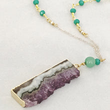 Load image into Gallery viewer, Long Amethyst & Jade Dream Manifestation Necklace