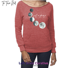 "Load image into Gallery viewer, Women's eco ""It's Just a Phase"" Raglan Sweatshirt w/Pouch"