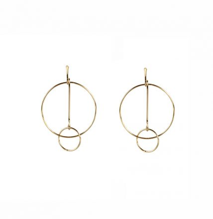 Lily Double Circle Bar Earrings