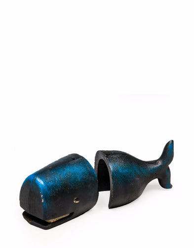 Cast Iron Antiqued Pair of Whale Bookends