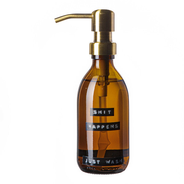 Soap Pump -  'SHIT HAPPENS JUST WASH' -250ml