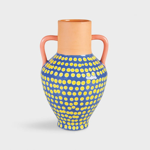 Terracotta Dotted Vase