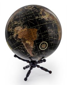 Globe on Wooden Stand