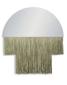 Boho Mirror with Gold Fringe