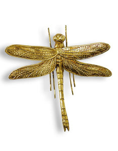 Antique Gold Dragonfly Wall Figure