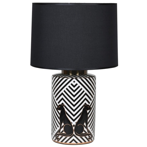 Leopard Lamp with Shade