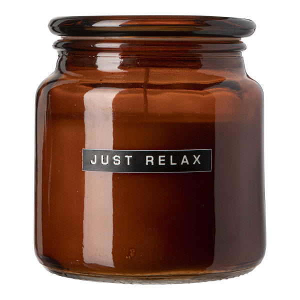 Large Scented Candle - Cedarwood 'JUST RELAX'
