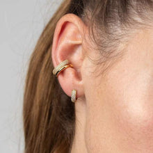 SP - Bling Huggie Hoop Earrings