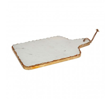 White Marble/Gold Cheese Board