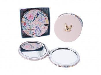 Pink Owl Compact Mirror