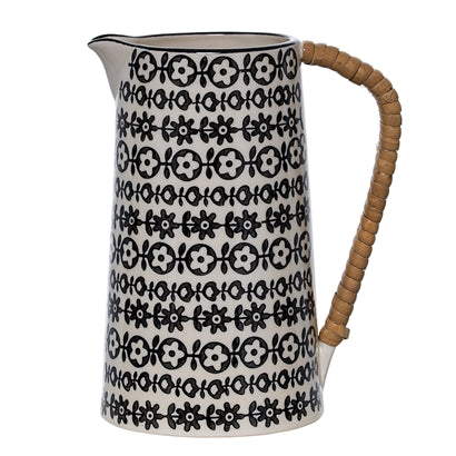 Julie Jug, Black, Stoneware