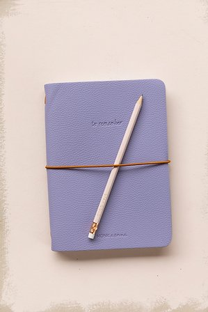 Notebook M | vegan leather | Lilac