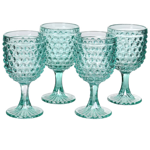 Set of 4  Bobble Water Glasses