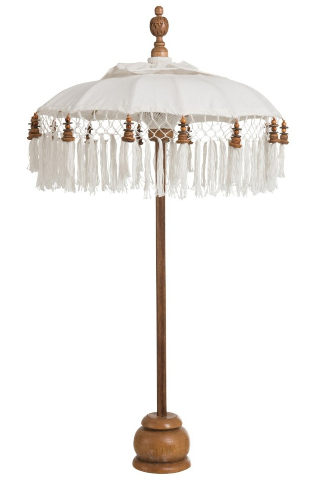 White Cotton table Parasol