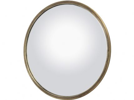 antique brass convex mirror large