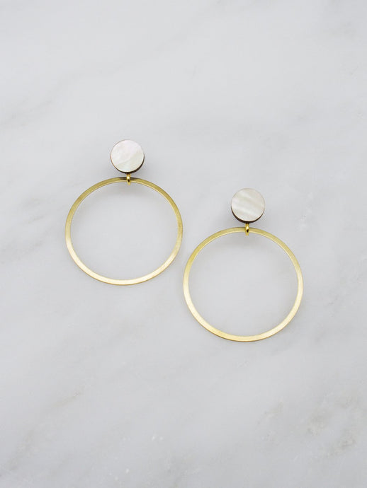 WM Dot Hoop Studs earrings