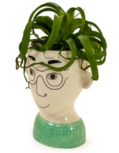 MAN'S FACE VASE - GLASSES
