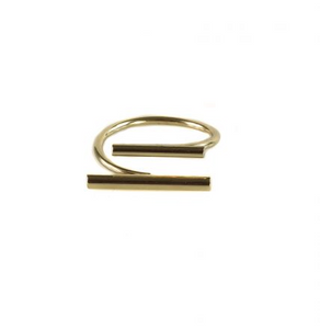 Cecile Double Bar Open Ring