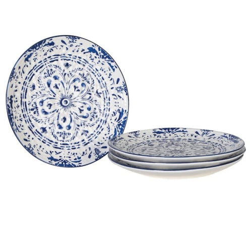 Set of 4 Large Patterned Plates
