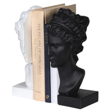 White and Black Bust Bookends