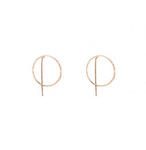 Harper Circle Pull-through Earring