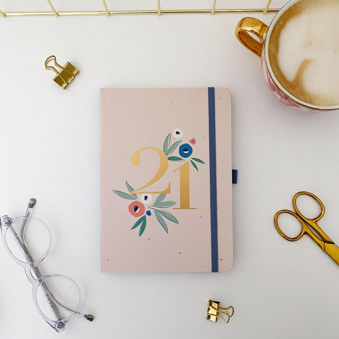 Busy Life Diary 2021 - Floral