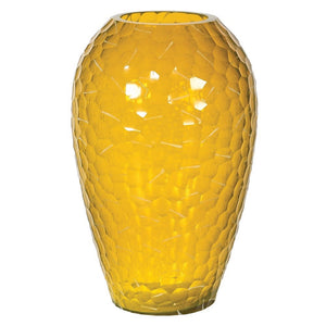Hammered Yellow Vase