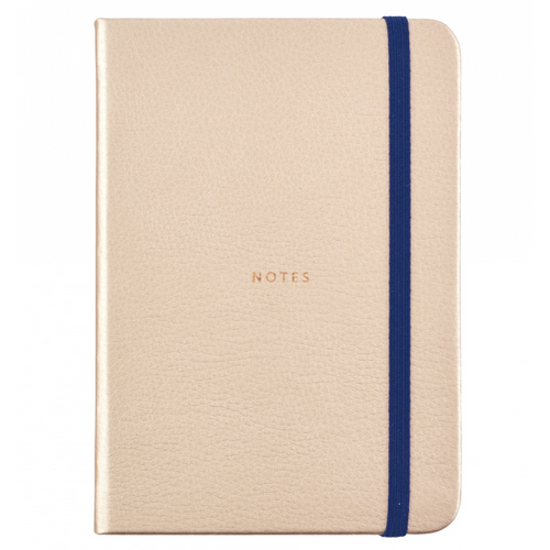 Busy Life Notebook - A6 Faux Rose Gold