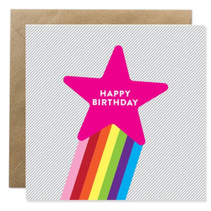 BB Birthday card - Rainbow Star