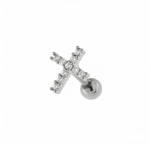 Cross Jewel Cartilage Tragus earring