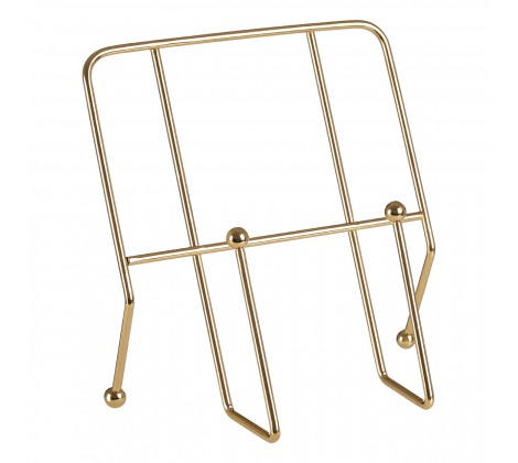 Cookbook Stand With Gold Finish